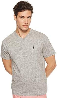 Polo Ralph Lauren Men/'s Short Sleeve Charcoal Gray Heather Crew-Neck T-Shirt