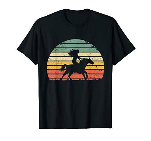 Girl Horse Riding Shirt Vintage Cowgirl Tshirt Texas Ranch ()