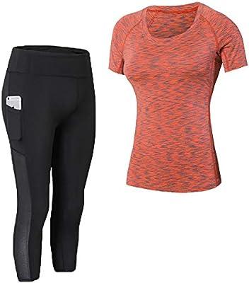 Shimmery Mono de la Mujer 2 Pack Ciclismo Pantalones de Yoga de ...