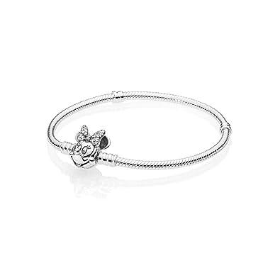 e55cef06e33 Amazon.com: PANDORA Disney, Shimmering Minnie Portrait Bracelet 925  Sterling Silver, Size: 18cm, 7.1 inches - 597770CZ-18: Jewelry