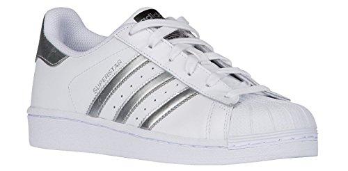 adidas Originals Women's Superstar, White/Silver Metallic/Black, 13 M US