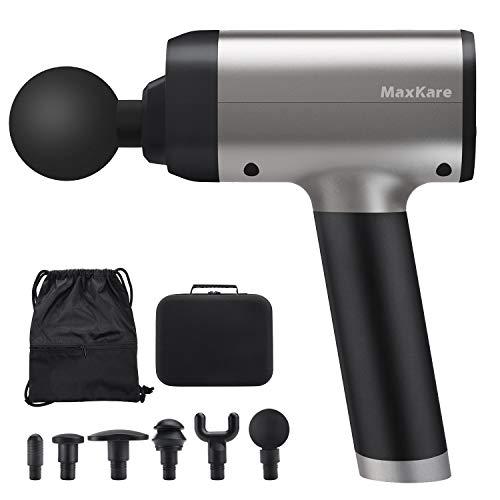 Awesome Muscle Massager Massage Gun with 3 Auto Modes – MaxKare Deep Tissue Muscle Percussion Massager for Athletes Pain Relief, Cordless Handheld Electric Massager Device with 5 Speed & Quiet Motor 2019