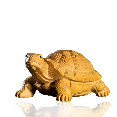 JDSHSO Exquisite Handmade Carving Statue Creative Gift Turtle Buddhist Sculptures China Japan Style Wood Crafts