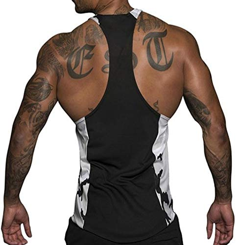 XARAZA Men's Muscle Stringer Tank Tops Athletic Workout Gym Fitness Vest T-Shirts...