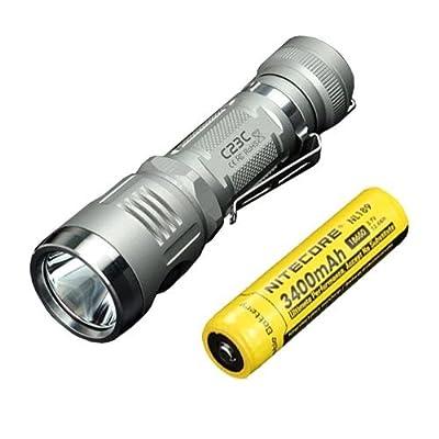 Bundle: Sunwayman C23C Flashlight w/ NL189 Battery -Available in Grey or Black