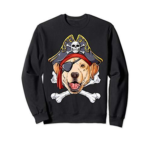 Pirate Youth Sweatshirt - Labrador Pirate Sweatshirt Jolly Roger Flag Skull Crossbones
