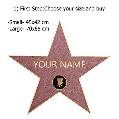 Personalized Walk of Fame Star Decal Removable Wall Sticker Decor Art Hollywood C790, Regular]()