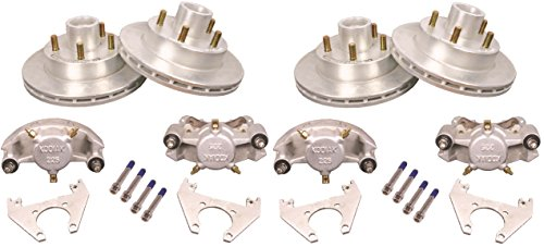 ailer Disc Complete Brake Kit w/Bearings & Seals For 2 Axles ()