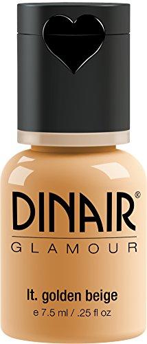 Dinair Airbrush Makeup Foundation | Light Golden Beige | GLAMOUR: Natural, Light coverage, Matte 1/4 oz.