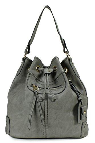 Scarleton Large Drawstring Handbag H107803 - Grey