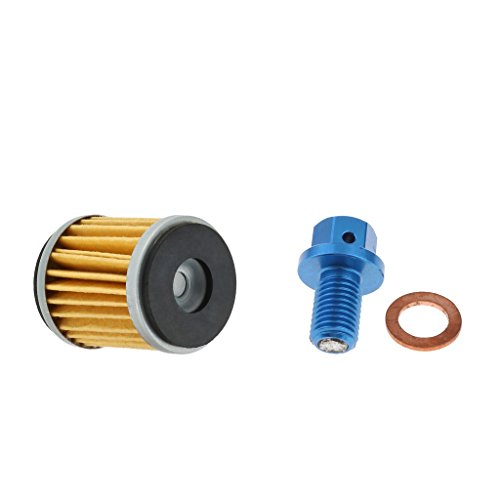 perfk Motorcycle Eninge Parts Oil Filters & Oil Drain Plug Screw for YAMAHA: