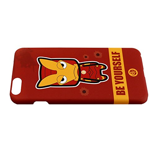 sterxy Cartoon 'Be Yourself' Iron Man Housse rigide pour iPhone 6/6S–Rouge