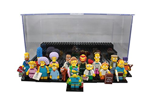 LEGO Simpsons Series 2 Collectible Minifigure Full 16 Piece Set (71009) Bundle with ThemToys Minifigure Display Case