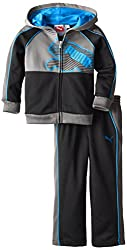 Puma Little Boys' Puma Pop Cat Poly Fleece Set-1, Black, 3t