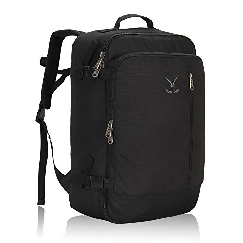 Hynes Eagle 38L Flight Approved Weekender Carry on Backpack, Black
