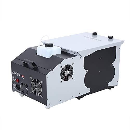 Ridgeyard 2.5L 1500W Low Laying Effect Smoke Fog Machine DMX 512 Wireless Remote Control Stage Ground Fogger for Wedding Disco Party Show With 2 -