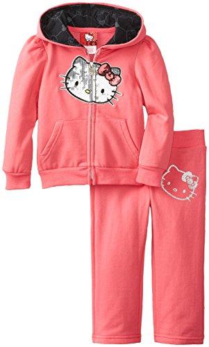 Hello Kitty Little Girls' Fleece Active Set, Pink, 2T