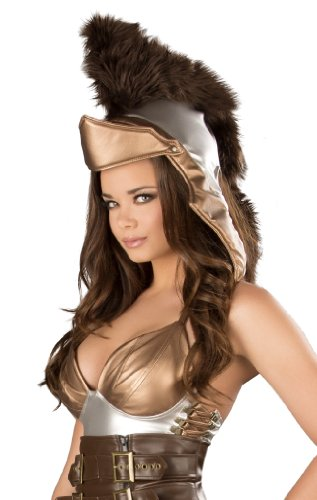 [J. Valentine Women's Trojan Helmet, Silver/Brown, One Size] (Trojan Halloween Costumes)