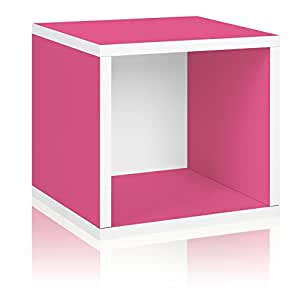 Way Basics Eco Stackable Storage Cube and Cubby Organizer, Pink,