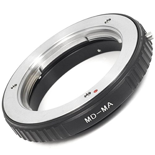 Grimbatol Lens Mount Adapter Minolta Md Mc Lens to Minolta Ma & Sony Alpha Mount Adapter with Glass(Md-Ma), Black
