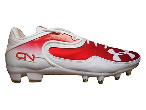 Under Armour Team Cam Low MC Football Cleats (12.5, White/Red)