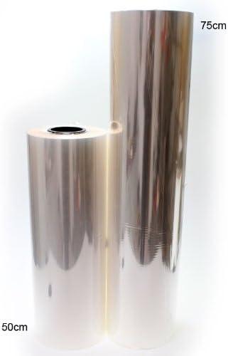 1000m Blumenfolie B75cm Geschenkfolie Klarsichtfolie Kristallfolie transparent