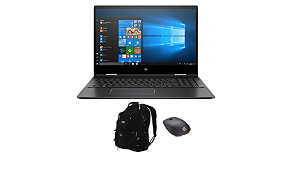 """HP Envy x360-15z Home and Business Laptop (AMD Ryzen 5 3500U 4-Core, 64GB RAM, 512GB PCIe SSD, 15.6"""" Touch Full HD (1920x1080), AMD Vega 8, Win 10 Pro) with HP Z5000 Mouse, ME2 Backpack"""