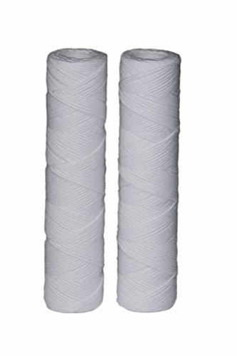 EcoPure EPW2S String Wound Whole Home Replacement Water Filter – Universal Fit – Fits Most Major Brand Systems (2 Pack)