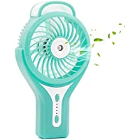 Ehoomely USB handheld Mini Misting Fan Personal Cooling Humidifier Portable Air Conditioner With Rechargeable Battery, Heat Stroke Prevention (blue)
