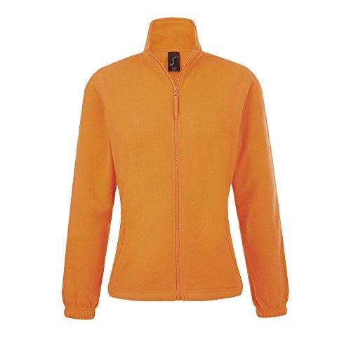 Arancione Neon Donna Felpa Zip Pile Sols Con In xFz0q0aY