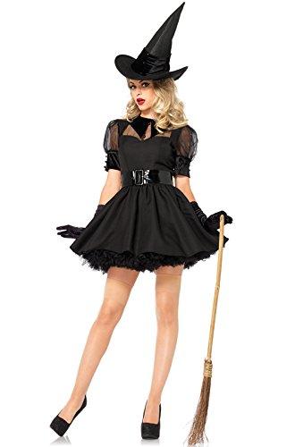 Leg Avenue Women's 3 Piece Bewitching Witch, black,