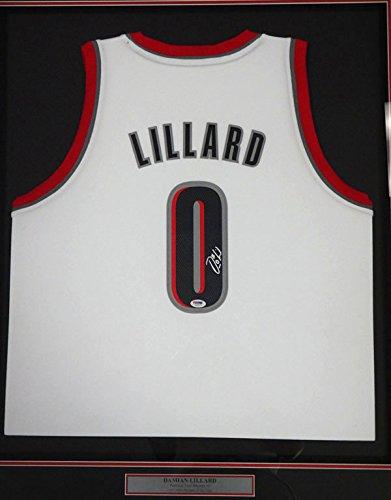 sale retailer 11faf 86640 Damian Lillard Autographed Portland Trailblazers White ...
