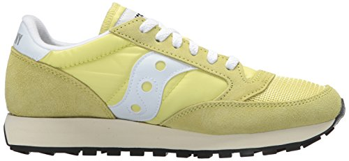 24 White Jaune Saucony Yellow Vintage Femme Original Baskets Jazz 6wZ86q