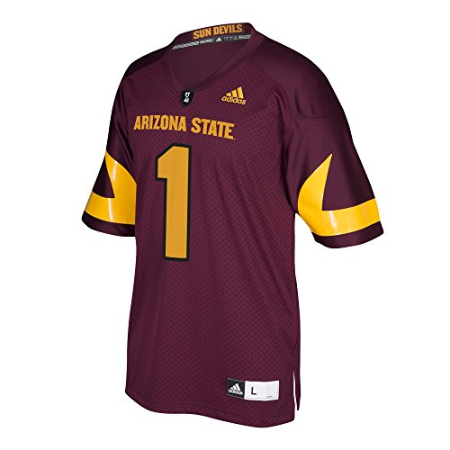 (adidas NCAA Arizona State Sun Devils Men's Premier Football Jersey, Maroon, Small)