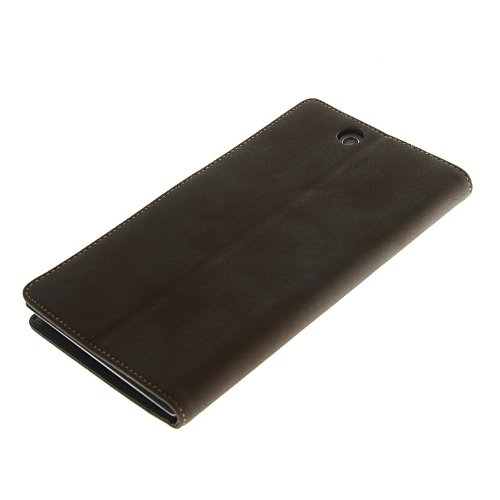 MOONCASE High Quality Flip Wallet Card Pouch Leather Case Cover For Sony Xperia Z Ultra XL39h Coffee