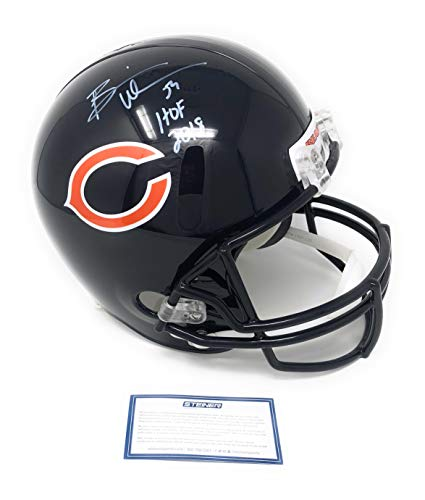 Brian Urlacher Chicago Bears Signed Autograph Full Size Helmet HOF Inscribed Steiner Sports Certified ()