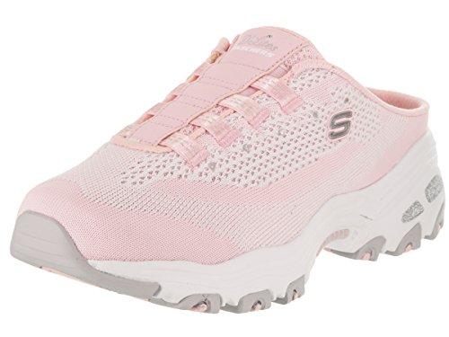 Skechers Sport Womens DLites Slip-On Mule Sneaker Light Pink/Black