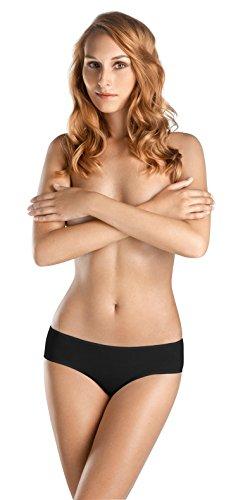 Hanro High Cut Brief - HANRO Women's Ultralight Hi Cut Brief, Black, X-Small