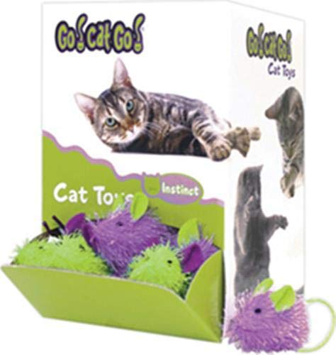 090052 Go Cat go Mini Hairy Mouse Bulk Display, 48Piece