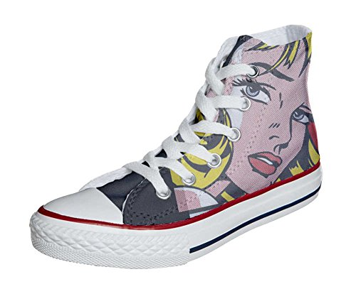 Converse All Star chaussures coutume mixte adulte (produit artisanal) Blond girls
