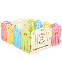 Beautylife88 Baby Playpen Kids Activity Center Yard Safety Fence Play Pen 10+1+1