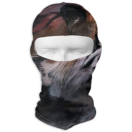 Leopoldson Roaring Tiger Painting Balaclava UV Protection Windproof Ski Face Masks for Cycling Outdoor Sports Full Face Mask Breathable ()
