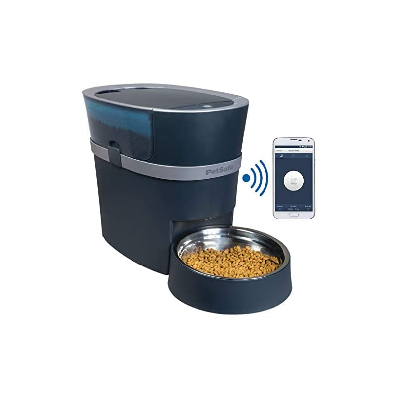 dog supplies online petsafe smart feed automatic dog and cat feeder, wi-fi enabled pet feeder, smartphone app for iphone and android