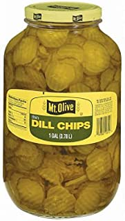 product image for Mt. Olive Thin Dill Chips - 1 gal. jar (pack of 2)