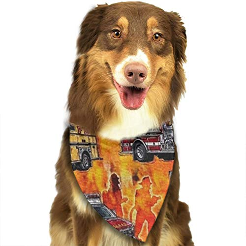 OURFASHION Fire Truck Bandana Triangle Bibs Scarfs Accessories for Pet Cats and Puppies]()
