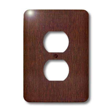 3dRose LLC lsp_41590_6 Bamboo Cherry Wood, 2 Plug Outlet Cover