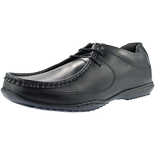 Roamers 2 Eye Lace Boys Shoes Black