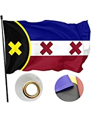 Vlag van Lmanburg, Dream SMP Indoor Outdoor Flag, Polyester L'manberg Flag Indoor Outdoor, kleurenvlag en lichtbestendige vlag, met doorvoertules Canvas Header en dubbel gestikte muurvlaggen