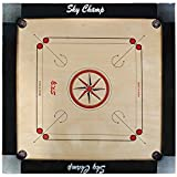 S.R Traders Sky Champ Club Cross Pocket Carrom Board With Coins, Striker & Powder - Wooden