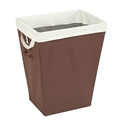 Honey-Can-Do HMP-02343 Laundry Hamper with Removable Liner, 22.5-Inch, Brown - Built-in re-inforced loop handles for easy portability and transport Hamper measures: 18L x 13W x 22.5H Rectangular shaped hamper with steel Frame stands up to toughest loads - laundry-room, hampers-baskets, entryway-laundry-room - 41kz 0gONYL. SS400  -
